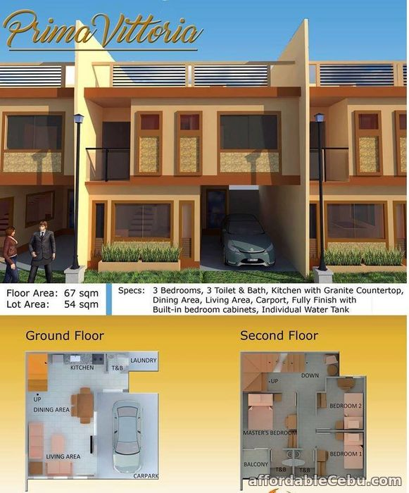 2nd picture of Prima Vittoria homes For Sale in Cebu, Philippines