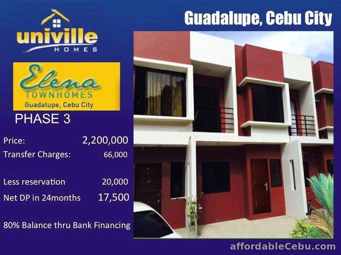 1st picture of Elena Townhomes Phase 3 & 5 For Sale in Cebu, Philippines