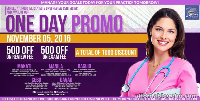1st picture of JROOZ IELTS One Day Promo – November 5, 2016 (Cebu) Offer in Cebu, Philippines