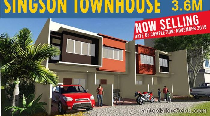 1st picture of SINGSON TOWNHOUSE IN GUADALUPE 3.6M Price For Sale in Cebu, Philippines