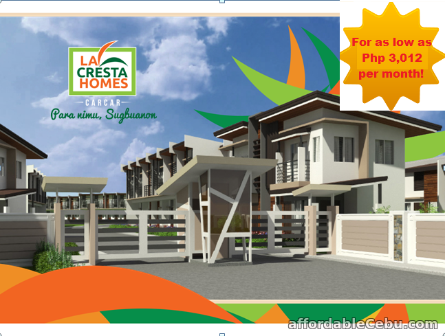 1st picture of Affordable House and lot for sale at Lacresta Homes in Carcar City Cebu For Sale in Cebu, Philippines