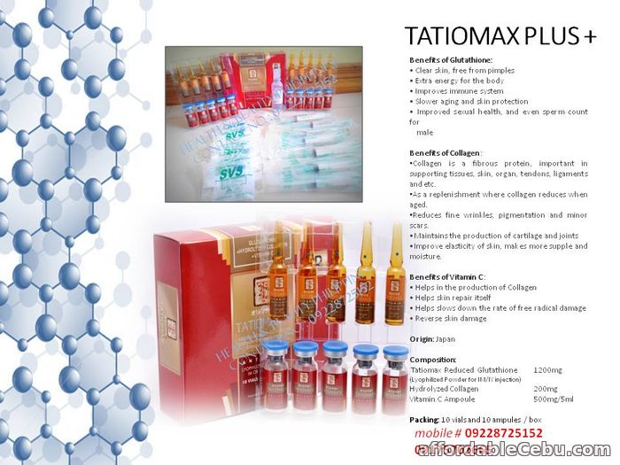 1st picture of Tatiomax plus glutathione in cebu For Sale in Cebu, Philippines