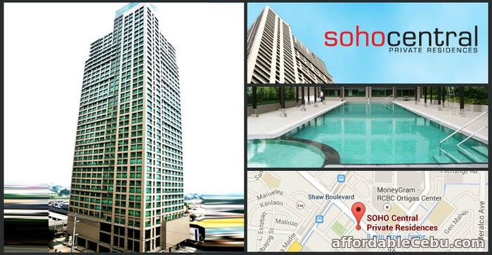 1st picture of 32 sqm Studio condo for sale in Shaw Blvd. Soho Central near Ortigas For Sale in Cebu, Philippines