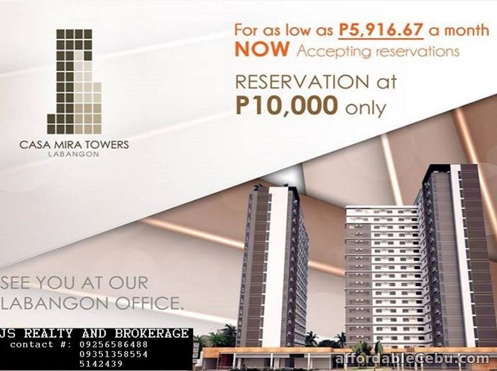 2nd picture of condominium for sale(CASA MIRA LABANGON) For Sale in Cebu, Philippines