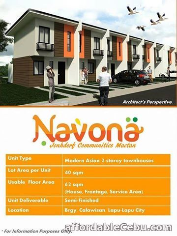 1st picture of 2storey townhouse for sale NAVONA HOMES For Sale in Cebu, Philippines