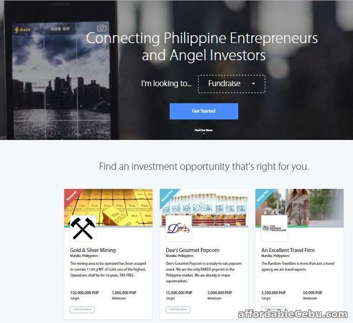 1st picture of Find free service for investors in Philippines. Offer in Cebu, Philippines