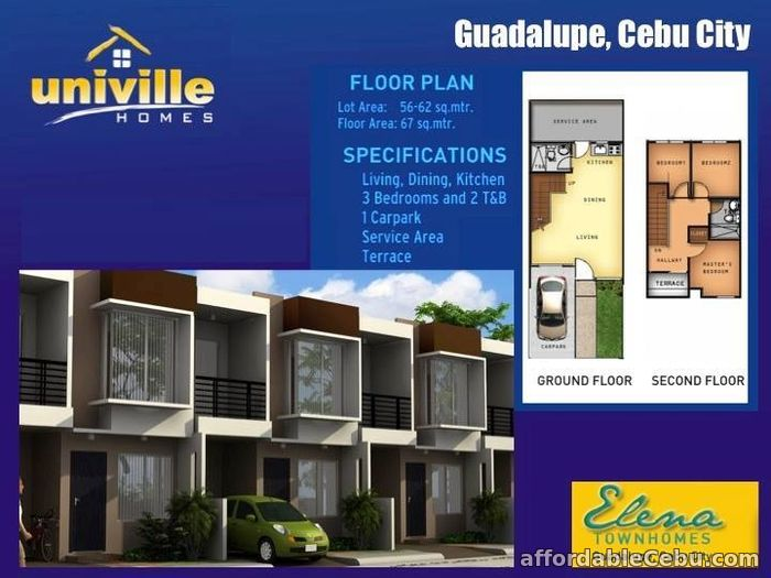 2nd picture of Affordable House for sale at Elena Townhomes in Guadalupe, Cebu City For Sale in Cebu, Philippines