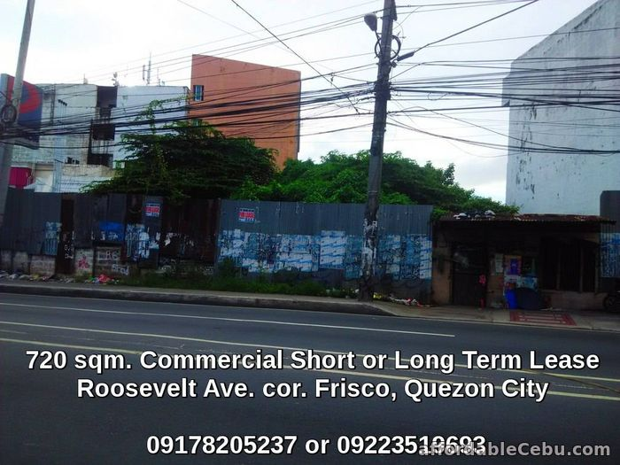 1st picture of vacant commercial lot for lease rent in Roosevelt Quezon City For Rent in Cebu, Philippines