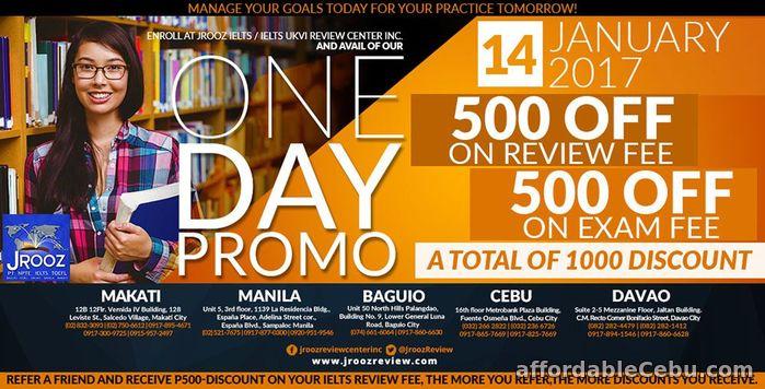 1st picture of JROOZ IELTS / IELTS UKVI ONE DAY PROMO – January 14, 2017 (Cebu) Offer in Cebu, Philippines