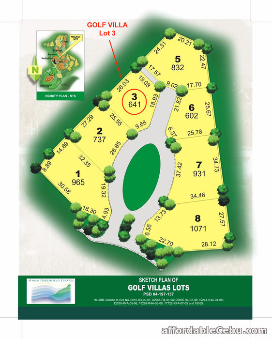 2nd picture of AYALA GREENFIELD ESTATES FAIRWAY GOLF VILLA LOT 3 For Sale in Cebu, Philippines