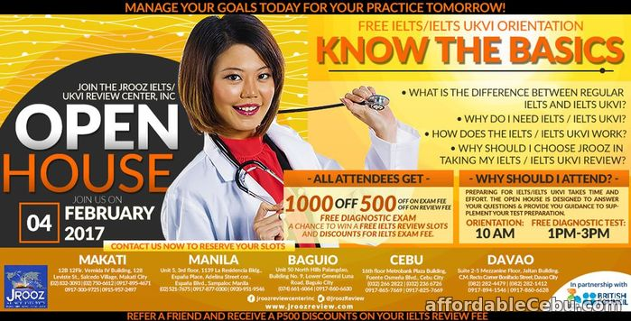 1st picture of JROOZ IELTS / IELTS UKVI OPEN HOUSE PROMO – February 4, 2017 Offer in Cebu, Philippines