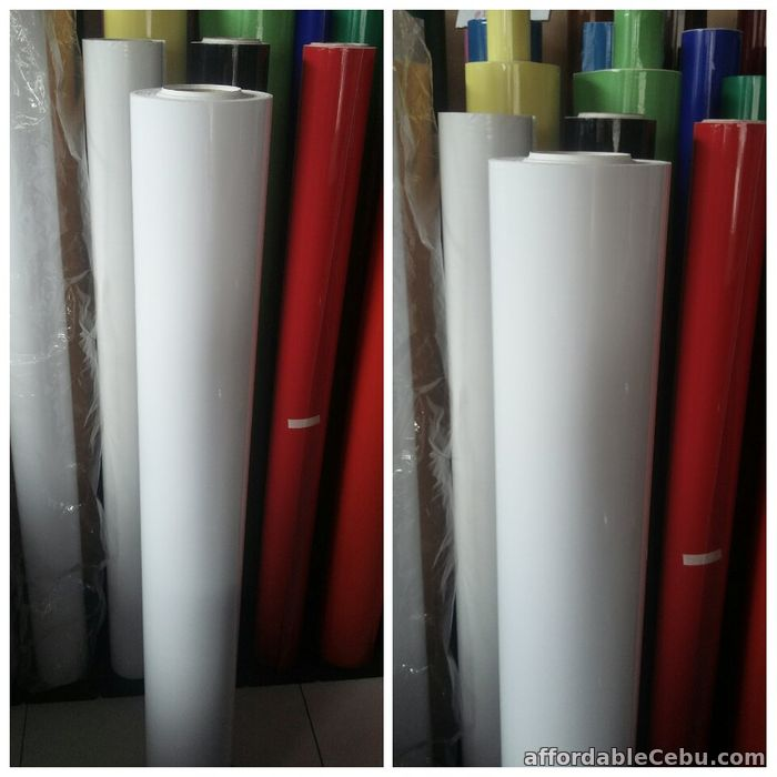 1st picture of White Gloss for car wrapping,printable are use for large printing For Sale in Cebu, Philippines