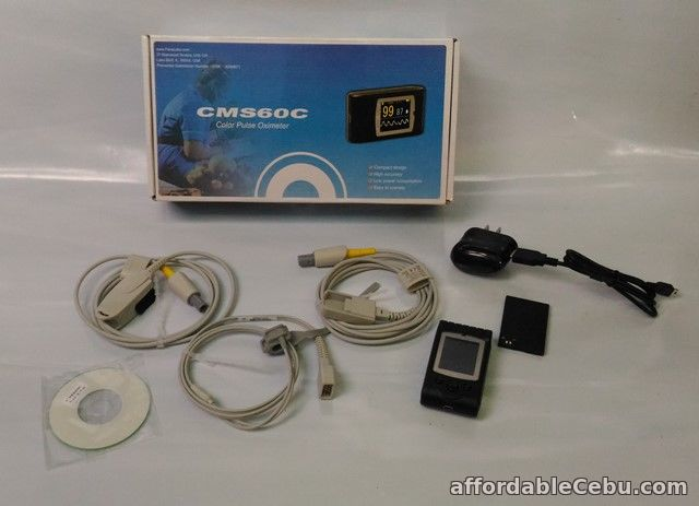 1st picture of HANDHELD RECHARGEABLE PULSE OXIMETER WITH ADULT AND PEDIA PROBE For Sale in Cebu, Philippines