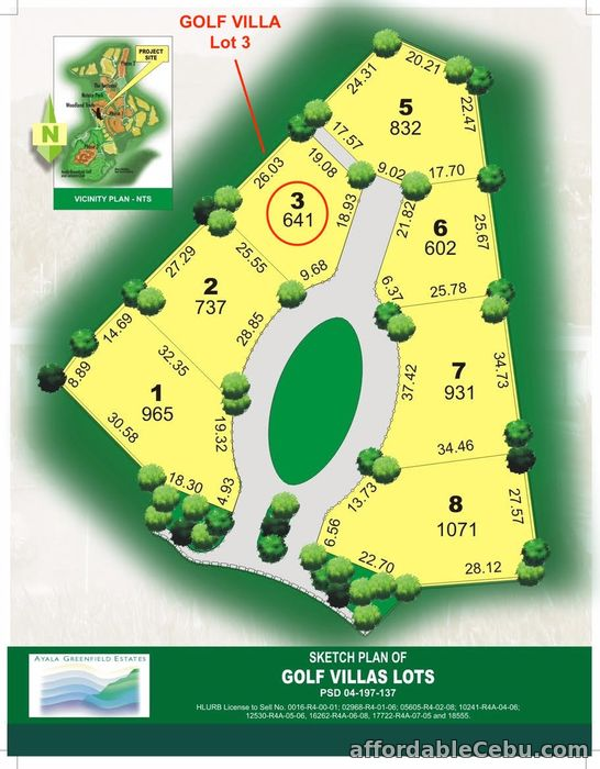 2nd picture of AYALA GREENFIELD ESTATES FAIRWAY GOLF VILLA LOT 3 (641sqm) For Sale For Sale in Cebu, Philippines