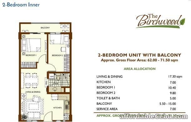 2nd picture of FOR SALE 2 BEDROOM UNIT IN ACACIA ESTATES For Sale in Cebu, Philippines