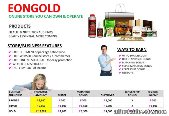 2nd picture of EONGOLD International Business,Biggest Pairing Bonus, Earn dollars from home! Looking For in Cebu, Philippines
