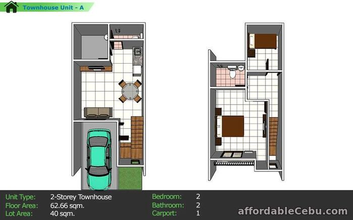 4th picture of Nortierra subd.Mediterranean two-storey townhouse For Sale in Cebu, Philippines