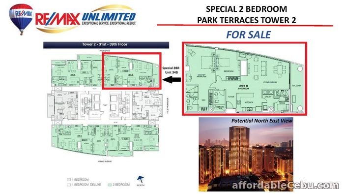 2nd picture of FOR SALE SPECIAL 2 BEDROOM UNIT PARK TERRACES PHASE 1 TOWER 2 For Sale in Cebu, Philippines