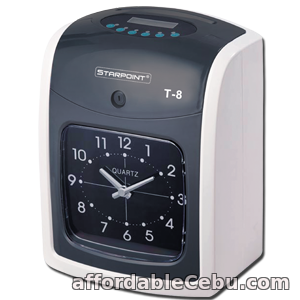 1st picture of STARPOINT T-8  Bundy Clock Attendance and Time Recorder w/ FREE 100 pcs. TIME CARD For Sale in Cebu, Philippines