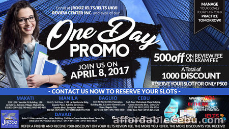 1st picture of JROOZ IELTS / IELTS UKVI ONE DAY PROMO – April 8, 2017 Offer in Cebu, Philippines