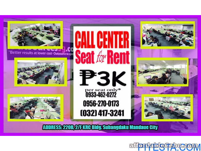 1st picture of Call Center Office Seat Leasing in Cebu, 3K per month, Mandaue City For Rent in Cebu, Philippines