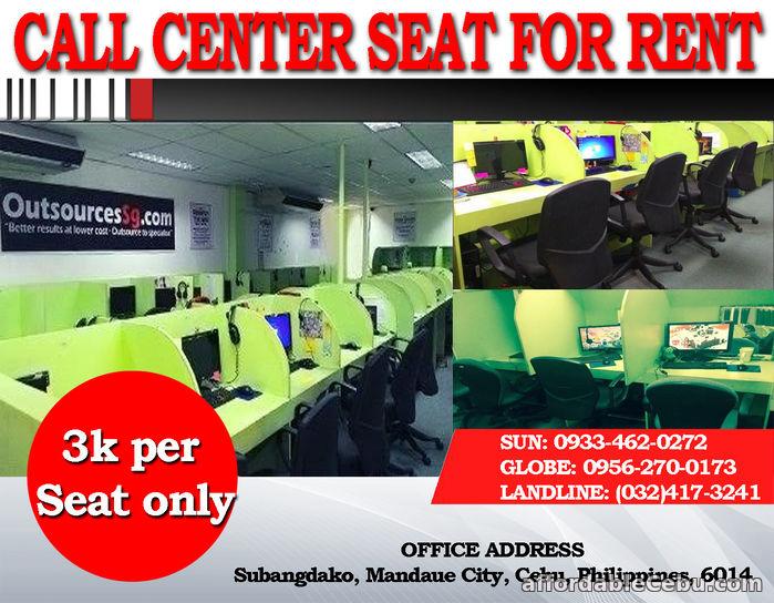 1st picture of Call Center Office Seat Leasing in Cebu, 3K per month, Mandaue City For Rent in Cebu, Philippines