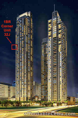 1st picture of CORNER 1BR FOR SALE AT PARK TERRACES For Sale in Cebu, Philippines