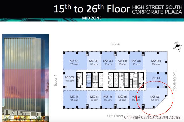 2nd picture of PRIME CORNER OFFICE FOR SALE IN BONIFACIO GLOBAL CITY For Sale in Cebu, Philippines