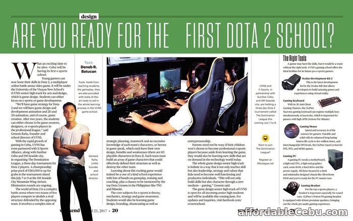 1st picture of Are you Ready for the First Dota 2 School? Offer in Cebu, Philippines