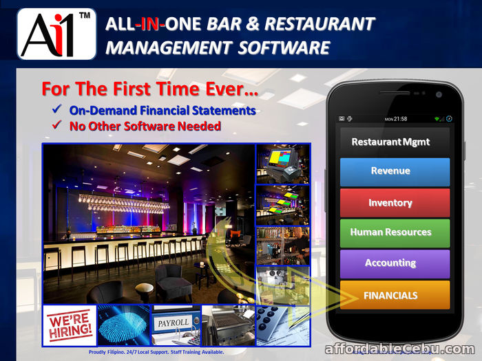 1st picture of Bar and Restaurant Management Software System Philippines For Sale in Cebu, Philippines