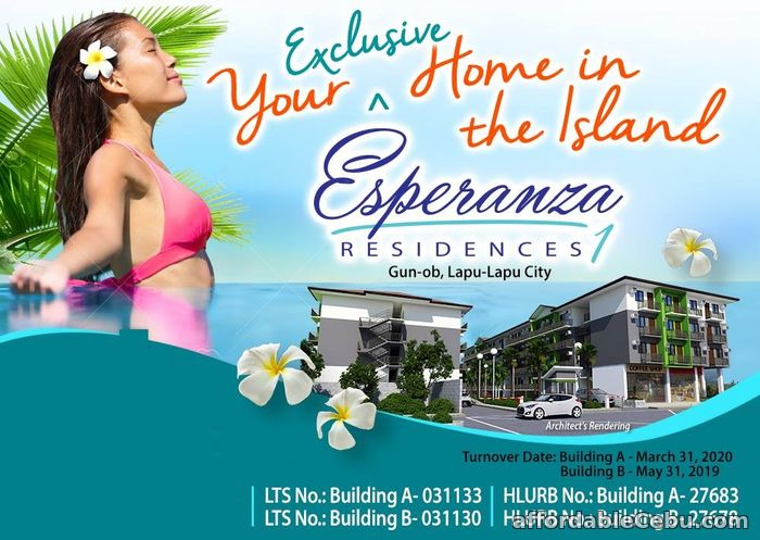1st picture of Very Affordable Walk Up condo at Esperanza Residences 1 For Sale in Cebu, Philippines