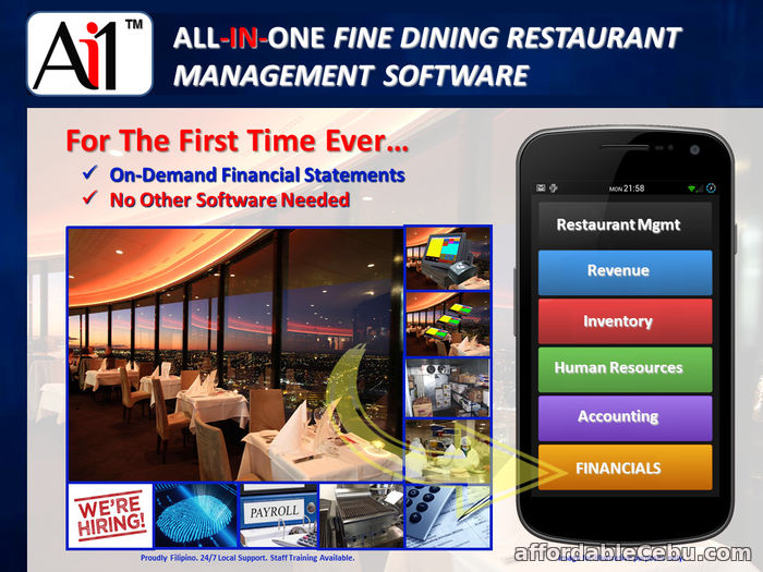 1st picture of Fine Dining Restaurant Management Software System Philippines For Sale in Cebu, Philippines