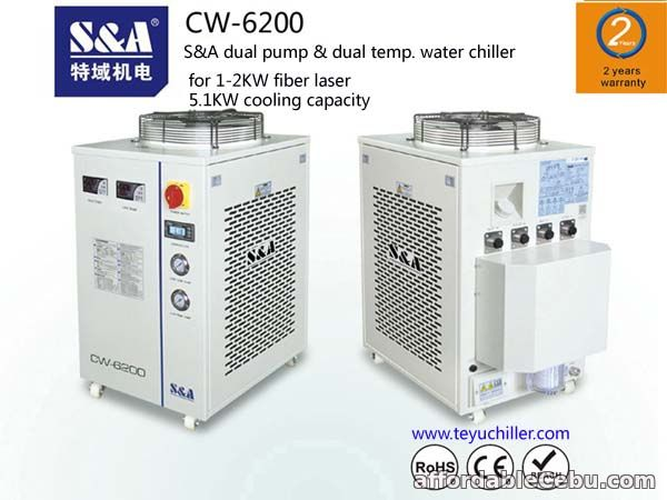 1st picture of S&A dual temperature and dual control chiller for Rofin co2 slab laser For Sale in Cebu, Philippines