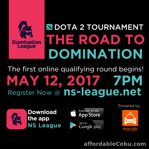 1st picture of Dota 2 Tournament! Register your team now @ www.ns-league.net Announcement in Cebu, Philippines