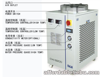 2nd picture of S&A dual temperature and dual control chiller for Rofin co2 slab laser For Sale in Cebu, Philippines