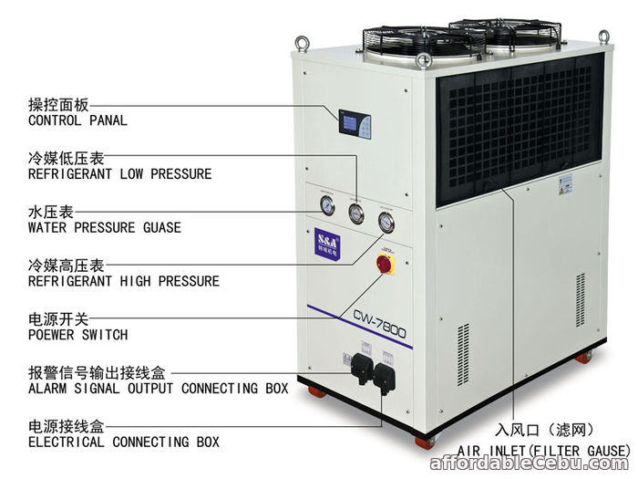 2nd picture of S&A Air-cooled water chiller for water-cooled computing server For Sale in Cebu, Philippines