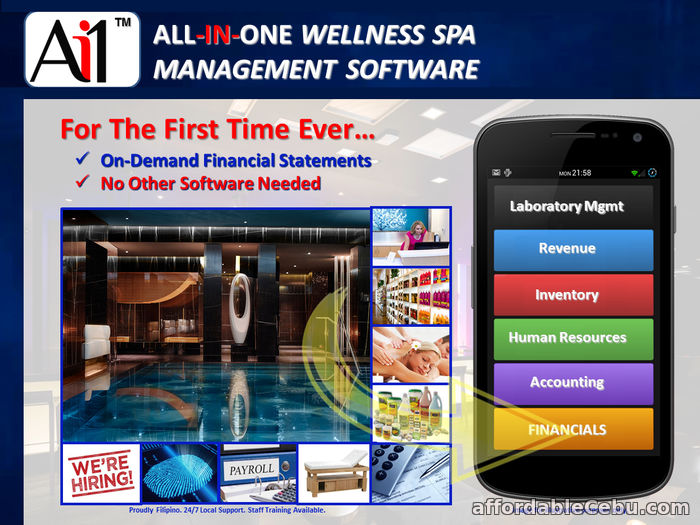 1st picture of All-In-One Wellness Spa Management Software For Sale in Cebu, Philippines