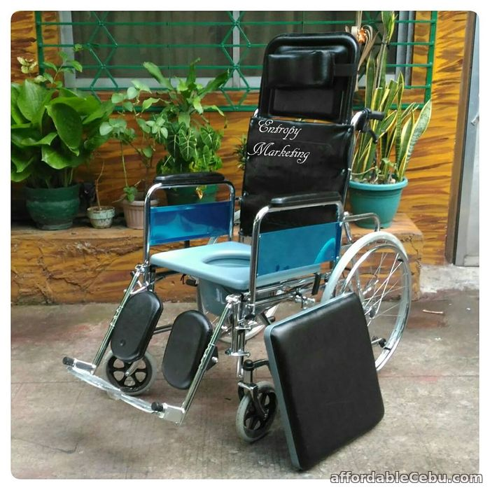 1st picture of RECLINING COMMODE WHEELCHAIR For Sale in Cebu, Philippines