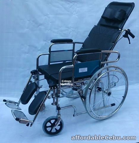 2nd picture of RECLINING WHEELCHAIR WITH DETACHABLE PARTS For Sale in Cebu, Philippines