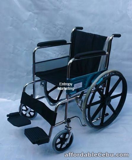 1st picture of WHEELCHAIR WITH MAG WHEELS For Sale in Cebu, Philippines