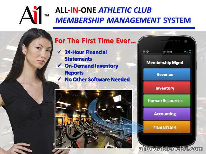 1st picture of Ai1 Athletic Club Membership Management System For Sale in Cebu, Philippines