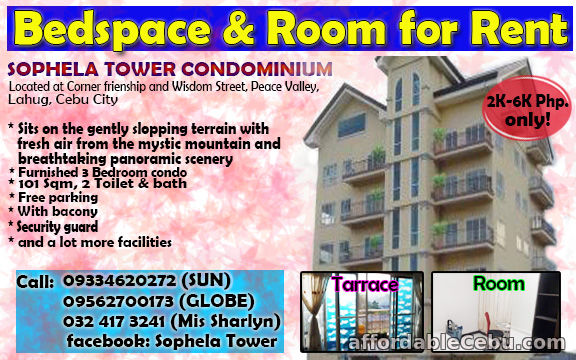 1st picture of Bed Space and Room for Rent For Rent in Cebu, Philippines