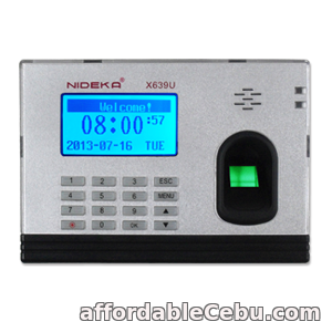 1st picture of NIDEKA X639 Fingerprint Time Recorder (Standalone) For Sale in Cebu, Philippines