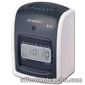 1st picture of STARPOINT T-7 Bundy Clock Time and Attendance Recorder W/100 Pcs. Time Card For Sale in Cebu, Philippines