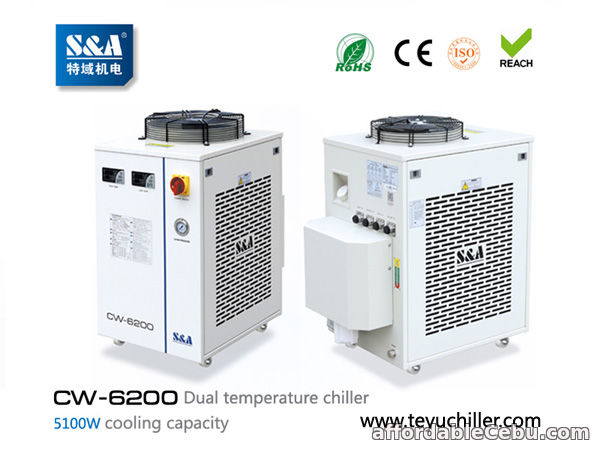 1st picture of S&A chiller CW-6200 with single pump & dual temperature for fiber laser cooling For Sale in Cebu, Philippines