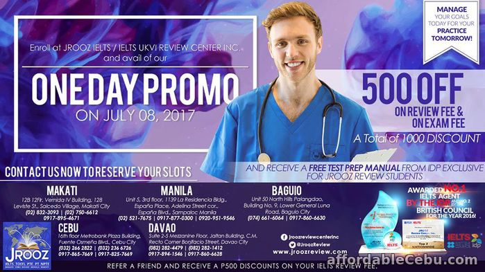 1st picture of JROOZ IELTS One Day Promo – July 8,2017 Offer in Cebu, Philippines