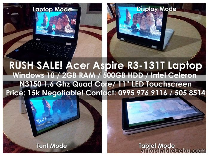 1st picture of RUSH SALE! Acer Aspire R3-131T Laptop For Sale in Cebu, Philippines