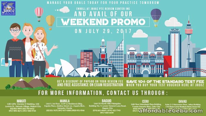 1st picture of JROOZ PTE Academic Weekend Promo – July 29, 2017 Announcement in Cebu, Philippines