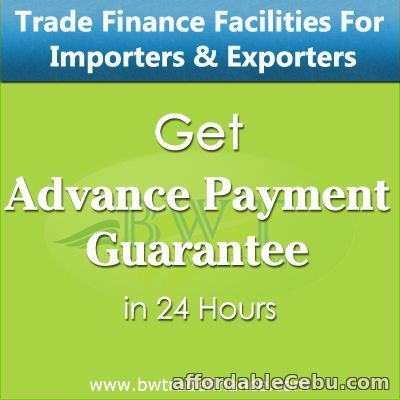 1st picture of Advance Payment Guarantee for Developers & Suppliers / Exporters Offer in Cebu, Philippines