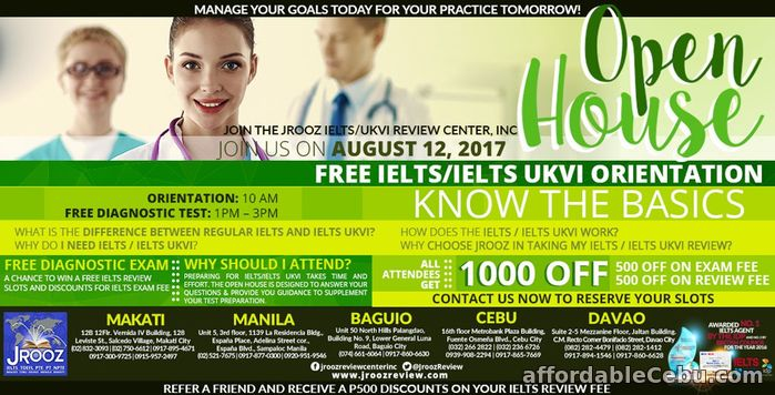 1st picture of JROOZ IELTS / IELTS UKVI OPEN HOUSE – August 12, 2017 Offer in Cebu, Philippines